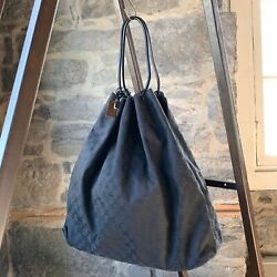 Vintage Large Canvas Gg Guccissima Hobo Shopping Bag