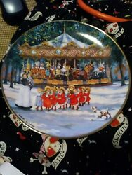 Carousel Holiday By Sandi Lebron- Limited Edition- Plate F4563- Fine Porcelain