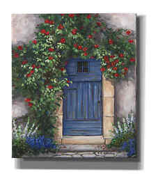 Epic Graffiti And039blue Door With Red Rosesand039 By Barbara Felisky Giclee Canvas Wall