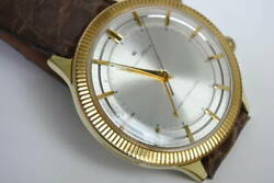 Citizen 515813 Vintage Alarm 4h Cgp Ss Manual Winding Mens Watch Auth Works