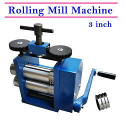 1xmanual Combination Rolling Mill Machine Jewelry Tool Stainless Alloy Roll