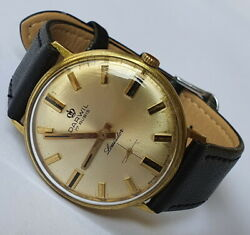 Very Rare Darwil Louisdor 17jewels Peseux Ss7010 Swiss Made From 60and039s