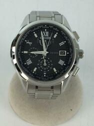 Citizen Exceed At9110-58e Titanium Used World Time Eco-drive Solar Mens Watch