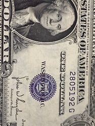 Error 1935 D 1 Silver Certificate -unc Missing Number Andletter And Year Top Rare