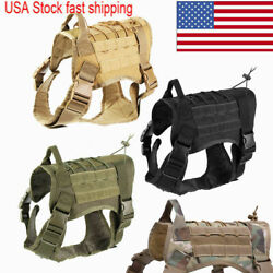 Tactical Police K9 Training Dog Harness Military Adjustable Nylon Vest