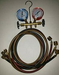 Dayton Refrigeration/air Conditioning Gauges Only Manifold Is New, Hoses Aren't