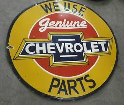 Lot Of 5 Chevrolet Parts Enamel Sign Size 30 Inches Double Sided