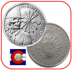 2014 Sbss Debt And Death 1 Oz. Silver -- Silver Bullet Silver Shield Remint