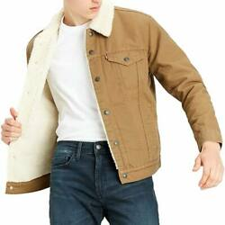 Menand039s Type Iii Sherpa Lined Trucker Jacket - Cougar Canvas Variations