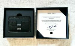 TOM FORD T-LINE LEATHER CARD HOLDER AMEX CENTURION BLACK CARD LIMITED EDITION  $219.99