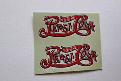 Two Pepsi Cola Script Water Transfer Decals 2 Inch