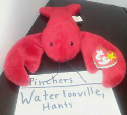 Ty Retired Beanie Baby Pinchers Style 4026 Tags 6-19-93 P.V.C Pellets