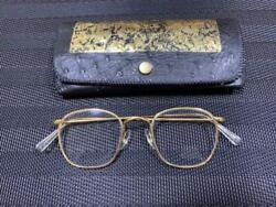 Vintage 1960's Hllton Classic 14k Glasses High Quality Metal Frame With Case