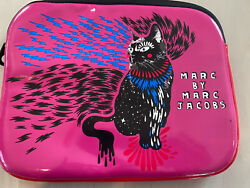 iPad Tablet Neoprene Bag Case Storage Marc By Marc Jacobs Pink With Black Cat $18.00