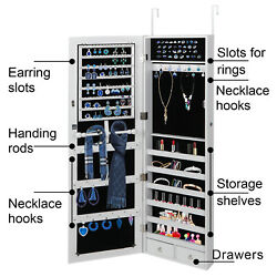 Armoire Large Jewelry Box Organizer Mirror Wall Door Mounted Jewelry Cabinet