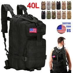 40L Military Molle Tactical Backpack Rucksack Camping Hiking Bag Outdoor Travel $29.99