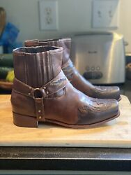 Motorcycle Boots Size 42 Measures 11andrdquo X 4andrdquo New Top Of Boot Opening Measures 5andrdquo