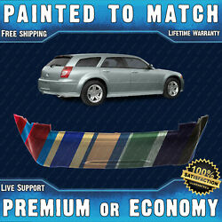 New Painted To Match Rear Bumper For 2005 2006 2007 Dodge Magnum W/ Dual Exhaust