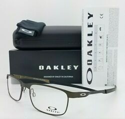 NEW Oakley Steel Plate RX Eyeglasses Frame Powder Pewter OX3222 0456 AUTHENTIC $109.00