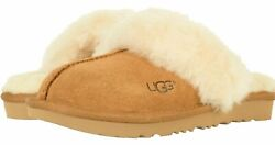 NEW IN BOX KIDS UGG COZY II CHESTNUT SUEDE SLIPPERS 1019065K SIZES 10 5 $39.99
