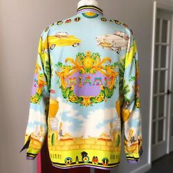 Gianni Versace Silk Shirt Miami Print Size It 52 From Ss 1993 Miami Collection