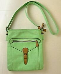 Charming Charlies Mint Green Faux Leather Crossbody Purse