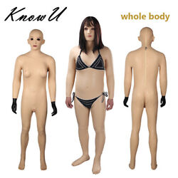 Lianna Silicone Fullbody Suit C Cup Breast With Head And Feet For Transgender