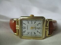 Carriage By Timex Analog Wristwatch With A Buckle Band And Quartz Movement