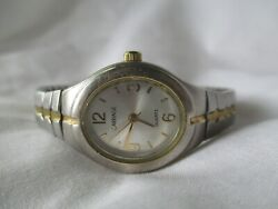 Carriage By Timex Watch Gold And Silver Two Toned Expansion Band Elegant