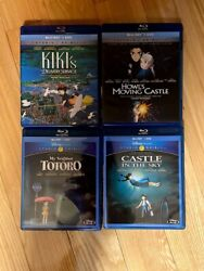 Kikis Delivery Service, Totoro, Castle In The Sky, Howl's Moving Castle Bluray