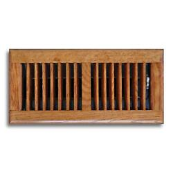 2 Pack 4 X 14 In. Oak Wood Floor Diffuser Grill Register Vent Cover Heating Ac