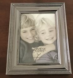 Fetco Home Decor 5x7 Frame With Nickel Finish New