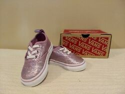 Vans Off the Wall purple lavender toddler girls shoes size 4 in box