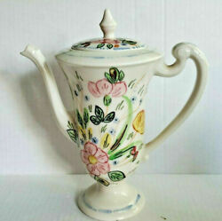 Blue Ridge Southern Pottery Chocolate Pot And Lid Rose Marie Discontinued