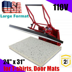 24 X 31 Clamshell Manual Sublimation Heat Press Machine For T-shirts Door Mats