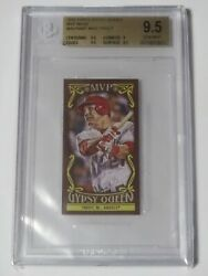 Mike Trout 2016 Topps Gypsy Queen Mvp Minis Bgs 9.5 Gem Mint Graded Card Mvpmmt