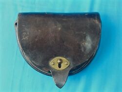 Antique Rare Indian War Us Arsenal Leather Ammo Cartridge Holder Box Pouch 45-70