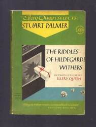 Stuart Palmer / The Riddle Of Hildegarde Withers First Edition 1947