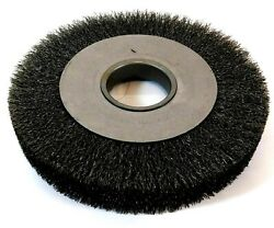 Weiler 06110 8 Arbor Hole Mounting Crimped Wire Wheel Brush 0.012 Wire Dia.