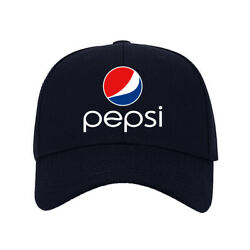New Baseball Hat Soda Pepsi Logo Printed Caps One Size Fits All Adjustable A