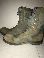 Mens Corcoran Marauder Tan And Sage Military Combat Leather Canvas Boots Size 13