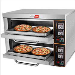 220v/6kw Commercial Electric Baking Oven Professional Pizza Cake Bread Oven U