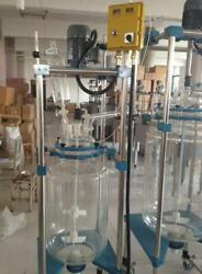 10l Jacketed Glass Chemical Reactor Vessel Explosion Proof Customizable U