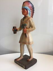 1940s Cigar Store Indian Advertising Figure Store Display Vintage Counter Top