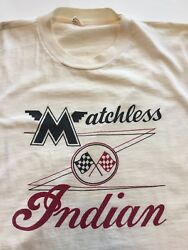 1950s Indian Matchless Motorcycle T-shirt By Champion Vintage Mc