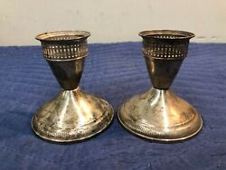 Pair Duchin Creation Weighted Sterling Silver Candle Holders