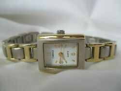 Carriage By Timex Women's Classy Gold And Silver Toned Bracelet Wristwatch