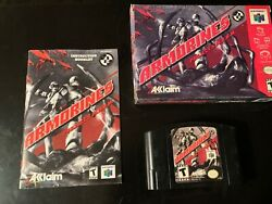 Armorines Project Swarm Nintendo 64 N64 With Box And Manual