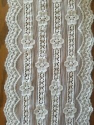 White Scalloped Stretch Lace Trim. 6quot; Inches wide. Price is per yard $2.99