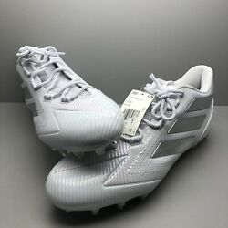 New Adidas Freak Carbon Low Size Mens 15 Us Football Molded Cleats White/silver